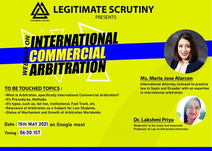 Arbitration law webinar poster