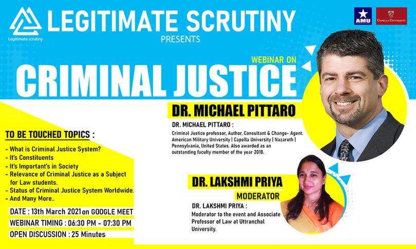 Criminal Justice Webinar