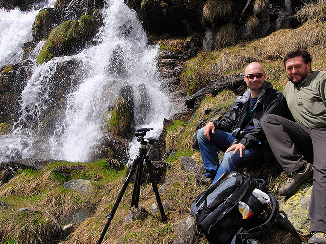 With Dirk at the Po river sources in the  Western Alps