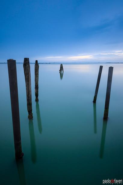 Venice_Burano_Italy_Boat_Poles_Twilight.