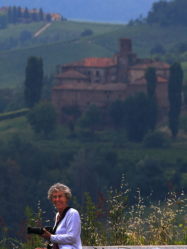 With Mary in the hills surrounding Barolo in the Langhe region, Piedmont
