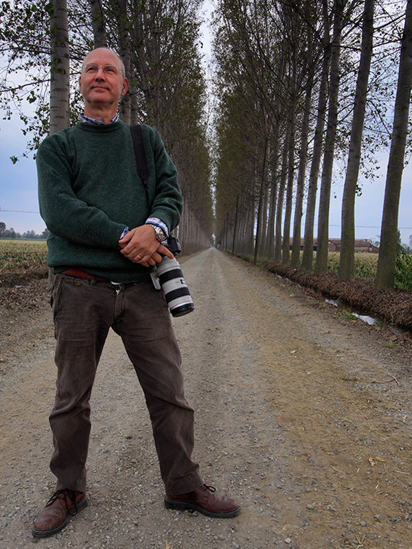 With David in the countryside nearby Carignano, Piedmont