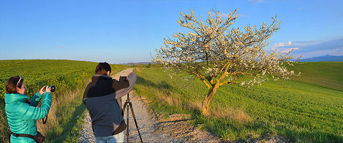 With Luisella in the Orcia Valley, Tuscany