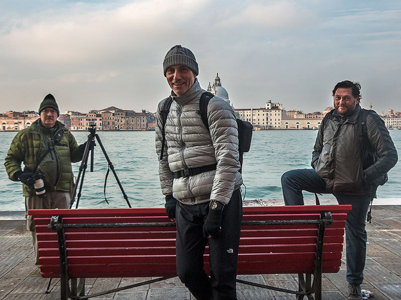 With Marco and Jacek at the island of Giudecca, Venice