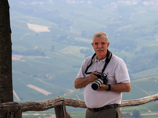 With Bill in the hills surrounding Barolo in the Langhe region, Piedmont