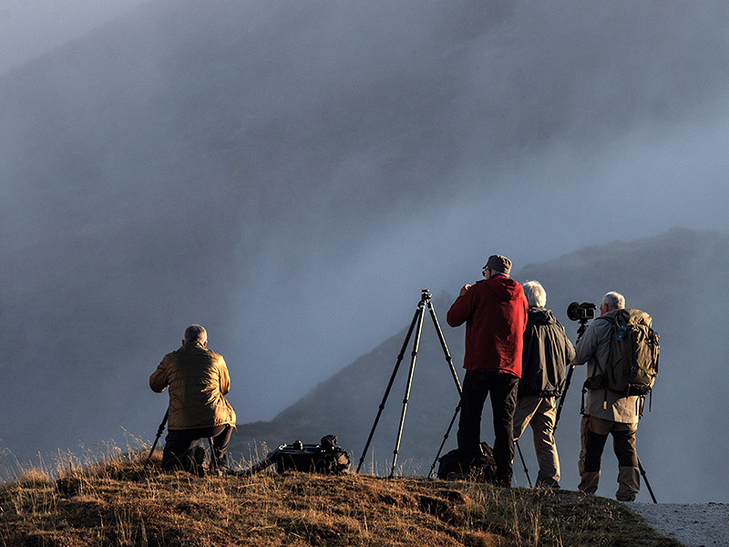 A group workshop in the Dolomites