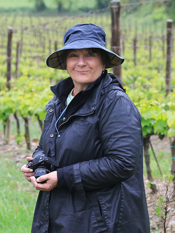 With Kathy, in a vineyard at Sant'Antimo Abbey, Tuscany