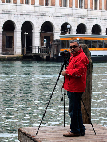 With Sharat in Venice