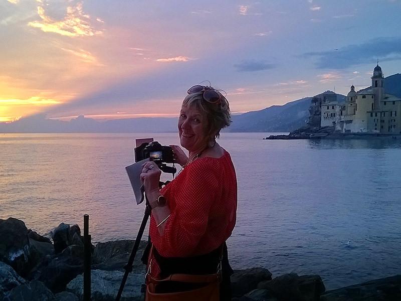 With Nolene in Camogli, Italian Riviera