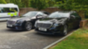 Sussex Chauffeurs driven Mercedes S-Class outside Glyndebourne Opera House in Lewes East Sussex