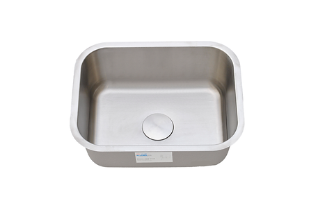 "Single bowl small sink. good for 24"" and 27"" sink base cabinets . Under mount installation."
