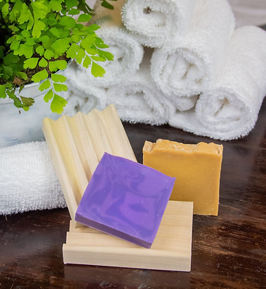 Soap and Wood Dish Bundle