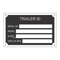 2503 TRAILER ID Data Plate 3.5x2 for wix