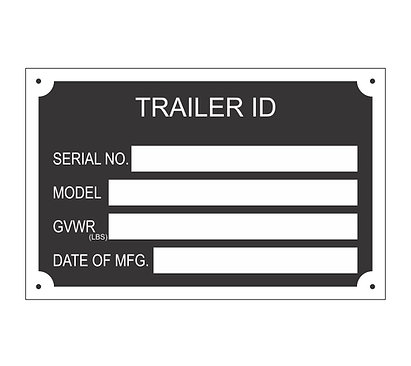 BLANK Trailer ID Data Tag