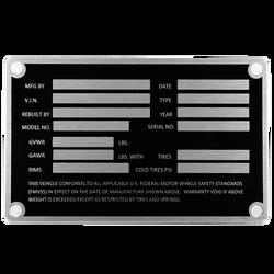 Trailer Data Plate