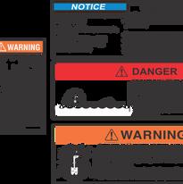Marine Warning Decals