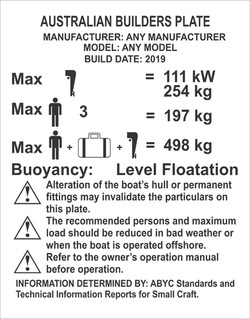 Marine Canadian Capacity Plate Tag