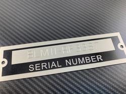 Serial Number Tag Plate