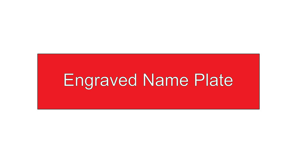 Custom Engraved Plastic Name Plate