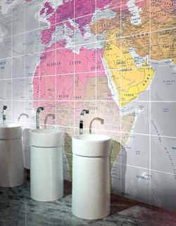 World Map Tiled