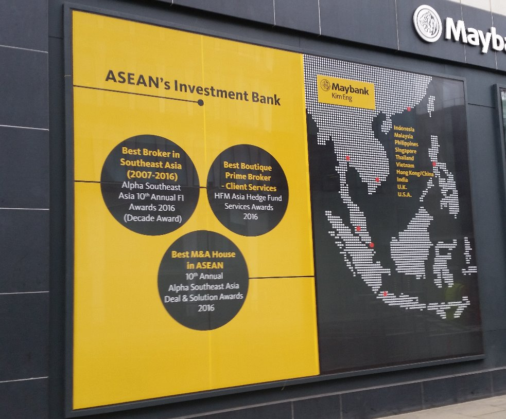 Maybank Perforated Digital Print