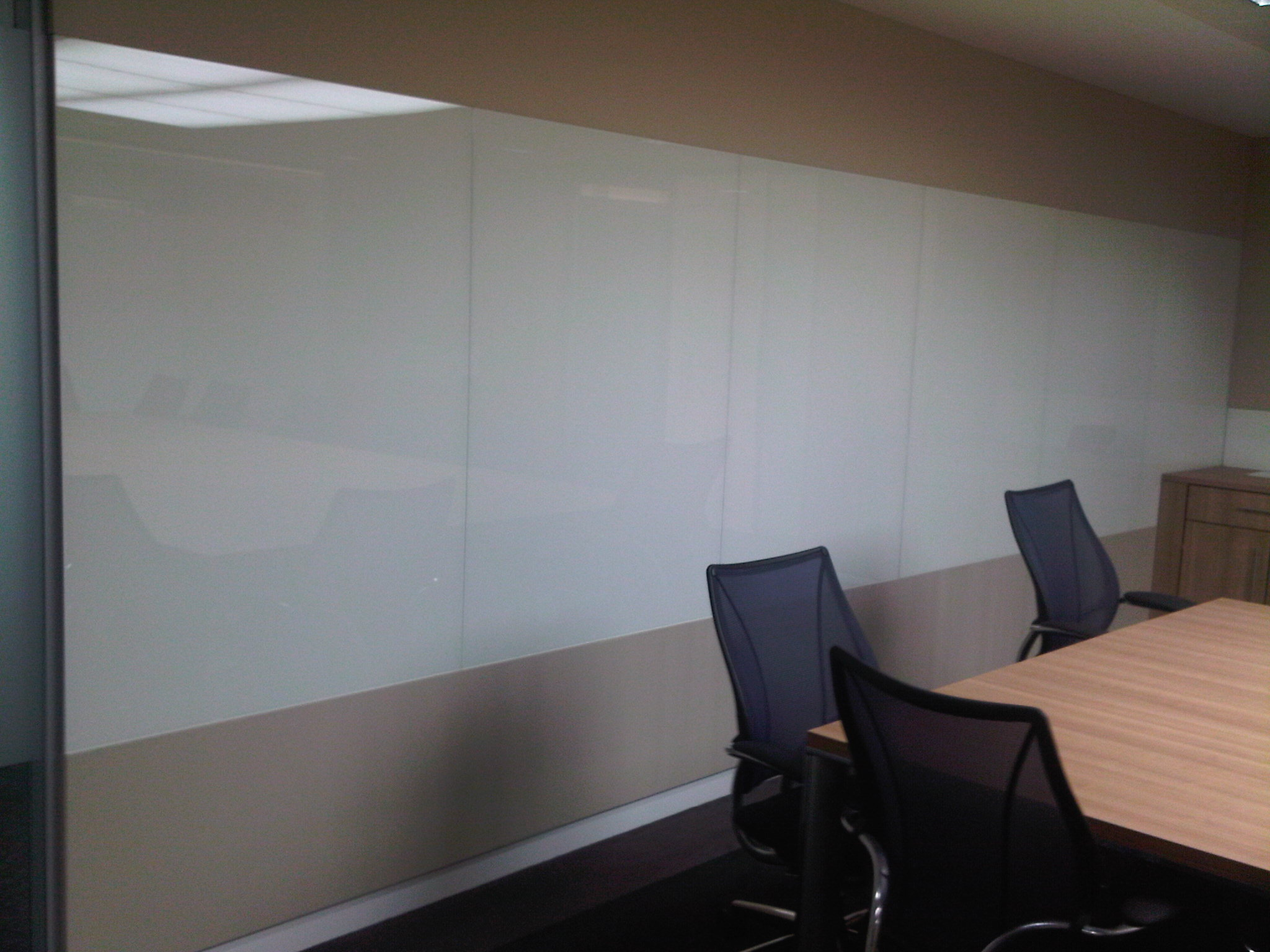 White Glass Board Wall