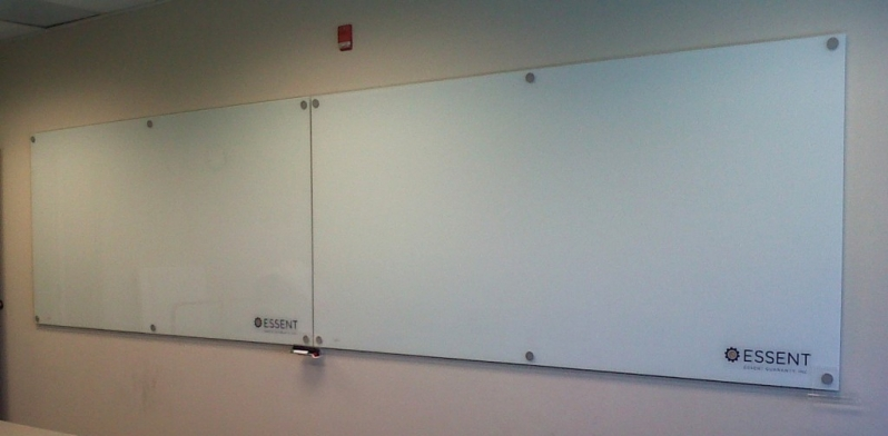 Dual White Glass Boards