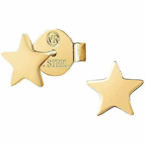 Brincos Stardust Estrela Aço Dourado
