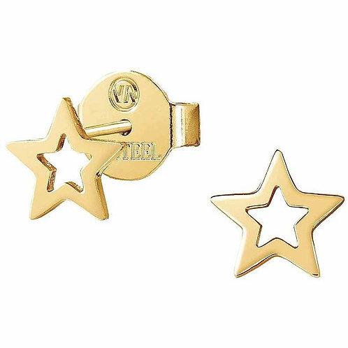 Brincos Nomination Stardust Estrela Aberta Aço Dourado