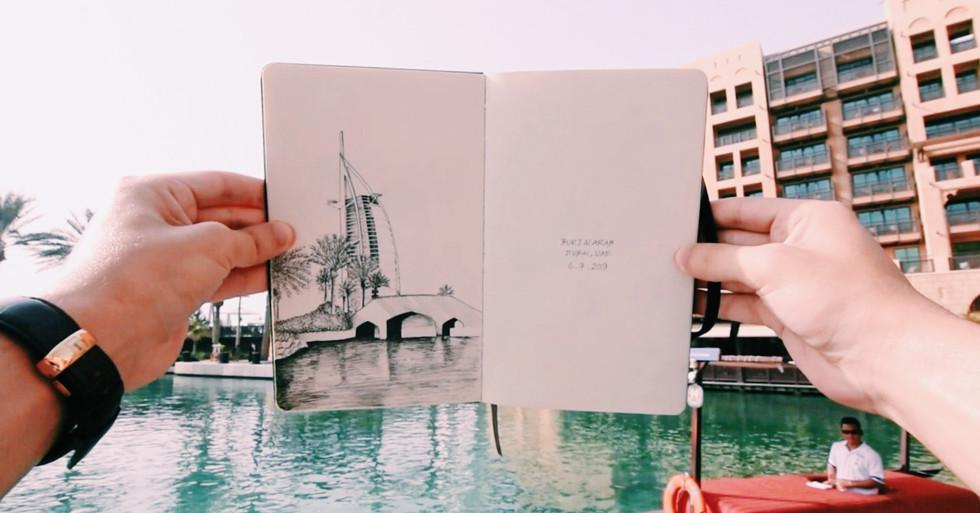 Dubai in Ink