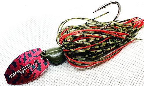 Flirt Skirts Fishing Bladed Jig*  Color: GPR 1000 3/8oz.