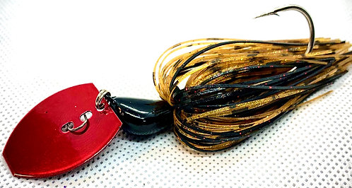 Flirt Skirts Fishing Bladed Jig*  Color: Delta Craw 3/8oz.