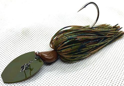 Flirt Skirts Fishing Bladed Jig*  Color: Big Camo 3/8oz.