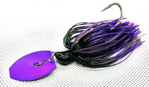 Flirt Skirts Fishing Bladed Jig*  Color: Purple Passion 3/8oz.