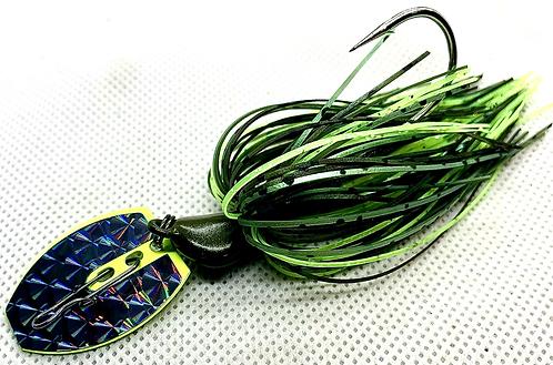 Flirt Skirts Fishing Bladed Jig*  Color: Lime Pepper 3/8oz.