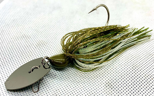 Flirt Skirts Fishing Bladed Jig*  Color: Triple B 3/8oz.