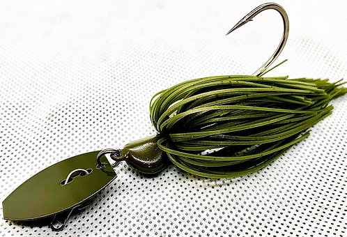 Flirt Skirts Fishing Bladed Jig*  Color: Green pumpkin 3/8oz.