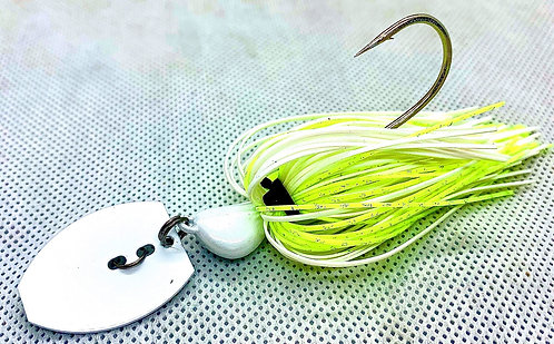 Flirt Skirts Fishing Bladed Jig*  Color: River Shad 3/8oz.