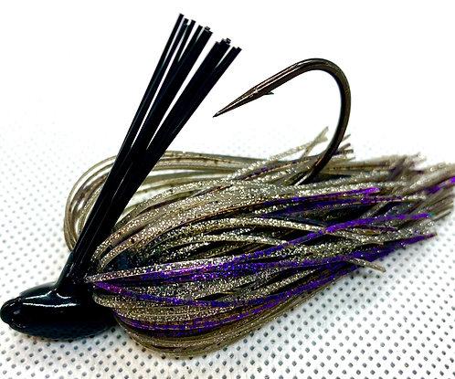 Flirt Skirts Fishing Swim Jig*  Color: Purple Smoke 3/8oz.