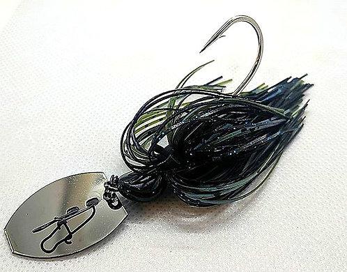Flirt Skirts Fishing Bladed Jig*  Color: Black N Blue  3/8oz.