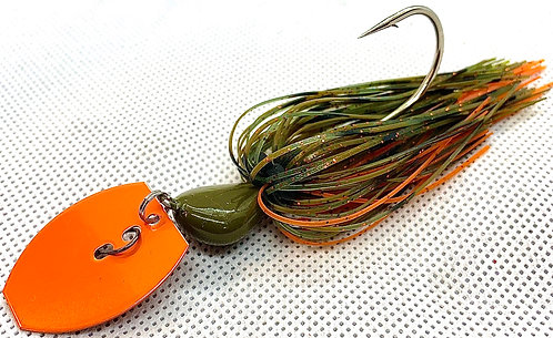 Flirt Skirts Fishing Bladed Jig*  Color: AZ Craw 3/8oz.