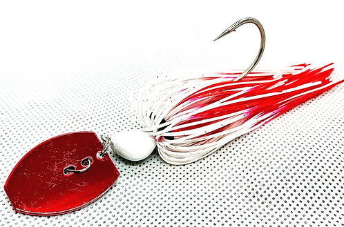 Flirt Skirts Fishing Bladed Jig*  Color: Bleeding Shad 3/8oz.