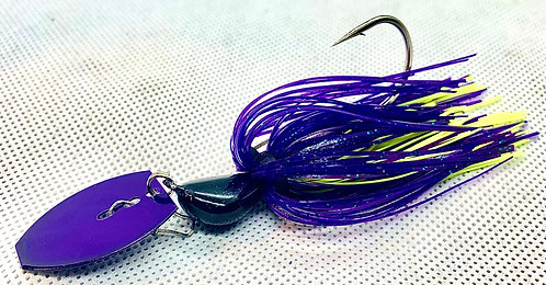 Flirt Skirts Fishing Bladed Jig*  Color: Shocker Shad 3/8oz.