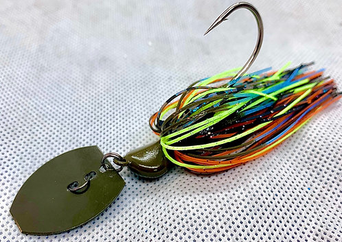 Flirt Skirts Fishing Bladed Jig*  Color: Zeke Kraw 3/8oz.