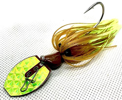 Flirt Skirts Fishing Bladed Jig*  Color: BedBug Craw 3/8oz.