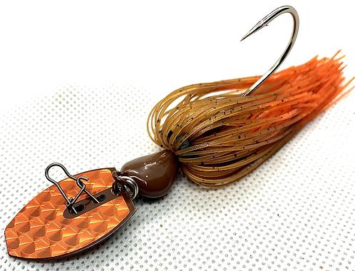 Flirt Skirts Fishing Bladed Jig*  Color: HotSauce 2.0 3/8oz.