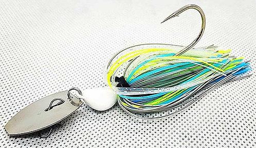 Flirt Skirts Fishing Bladed Jig*  Color: Sexy Shad  3/8oz.