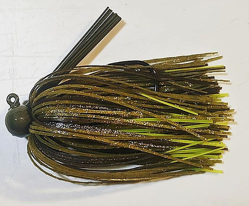 FSF Football Jig 1/2oz. Color: Mean Green