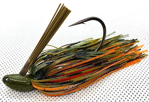 Flirt Skirts Fishing Swim Jig*  Color: AZ Craw 3/8oz.