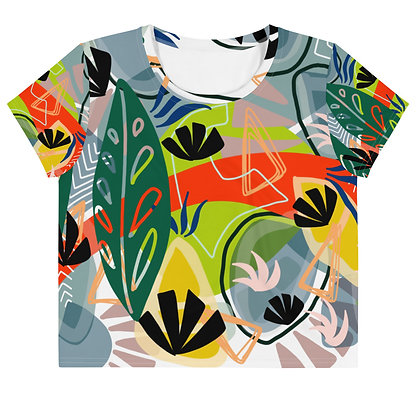 Tropical Thoughts All-Over Print Crop Tee